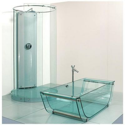 Prizma - Baignoire � poser-Prizma-Tulip glass bathtub