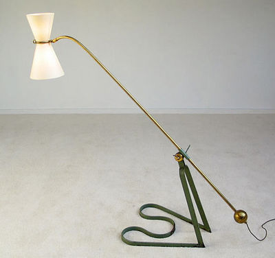 FURNITURE-LOVE.COM - Lampe de lecture-FURNITURE-LOVE.COM-Equilibrium floor lamp Pierre Guariche 1951