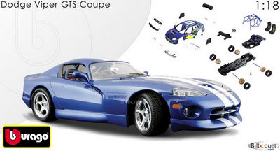 bburago - Voiture miniature-bburago-Dodge Viper GTS coup�