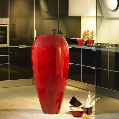 POTERIE GOICOECHEA - Vase grand format-POTERIE GOICOECHEA-Vase haut galbé fabrication à la corde