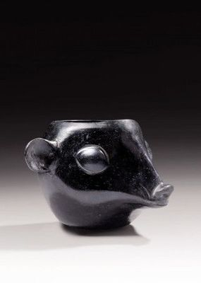 Galerie 1492 - Vase décoratif-Galerie 1492-tête d'animal Huari