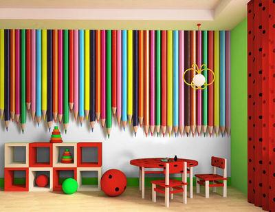 DECLIK - Papier peint enfant-DECLIK-crayon