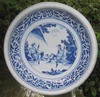 Antiquité Bosetti - Coupe décorative-Antiquité Bosetti-Coupe de NEVERS 17ème (décor à l'Astrée)