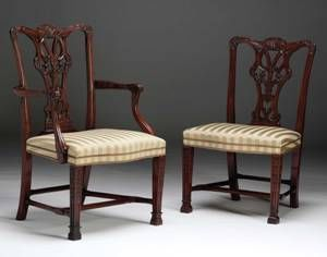 The English House - Chaise-The English House-Chippendale Dining Chair
