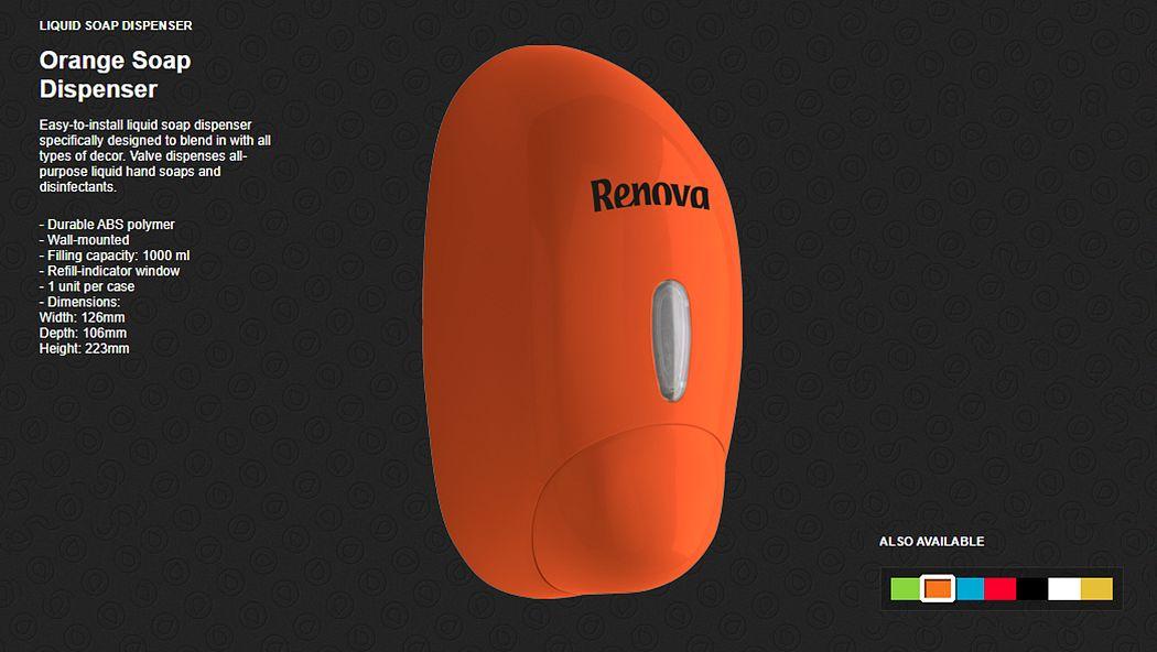 Renova Walled soap dispenser Bathroom accessories Bathroom Accessories and Fixtures  |