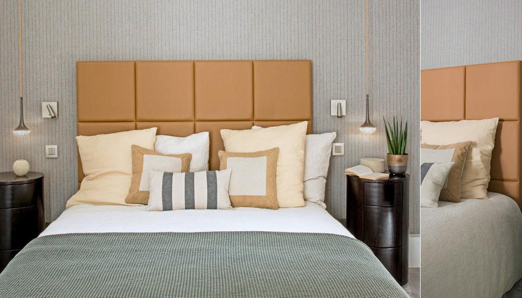 CUIR AU CARRE Headboard Bedheads Furniture Beds  |