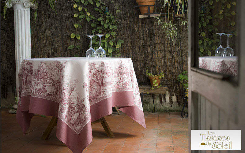 Les Tissages du Soleil Round tablecloth Tablecloths Table Linen Dining room | Classic