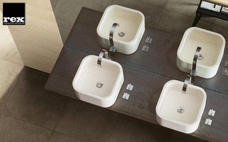 REX CERAMICHE ARTISTICHE Interior paving stone Paving Flooring Bathroom   Design Contemporary