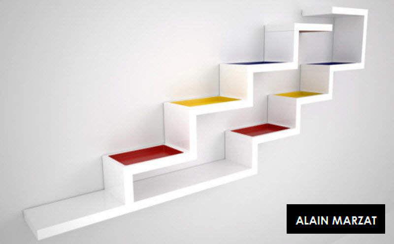ALAIN MARZAT Multi-level wall shelf Shelves Storage Home office | Design Contemporary