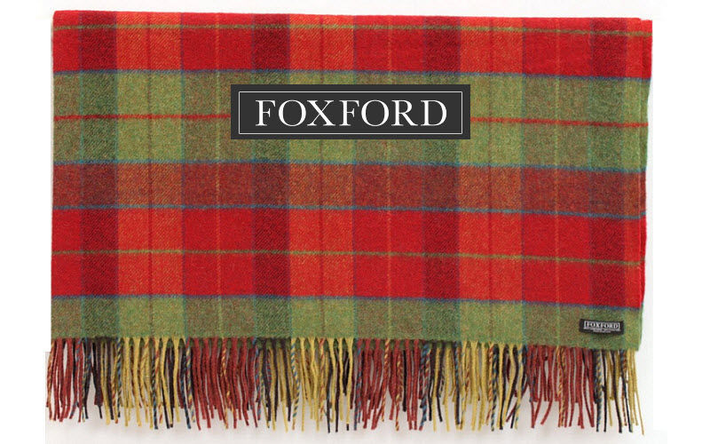 FOXFORD Tartan rug Bedspreads and bed-blankets Household Linen  |