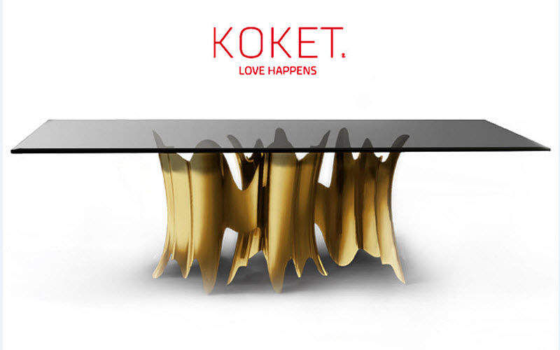 KOKET LOVE HAPPENS Rectangular dining table Dining tables Tables and Misc.  | Contemporary