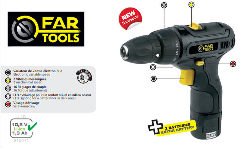 FARELEK Wireless drill Various Tools Tools  |