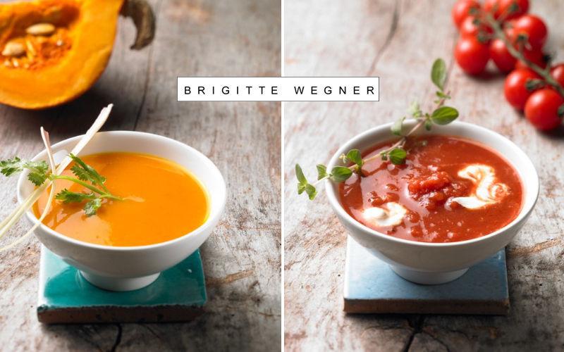 Brigitte WEGNER Cream soup cup and saucer Bowls Crockery  |