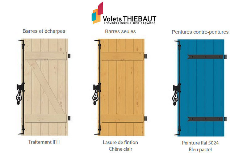 VOLETS THIEBAUT Shutter Shutters Doors and Windows  |