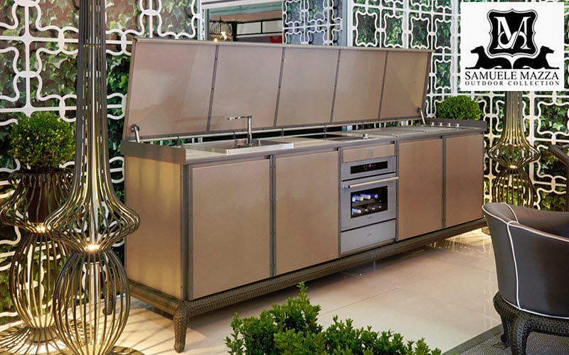 SAMUELE MAZZA OUTDOOR COLLECTION Outdoor Kitchen Fitted Kitchens Kitchen  Equipment |