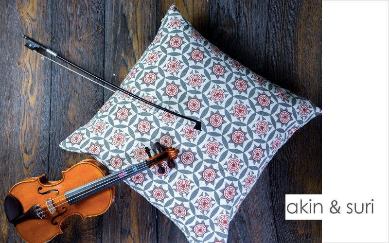 AKIN & SURI Square Cushion Pillows & pillow-cases Household Linen  |