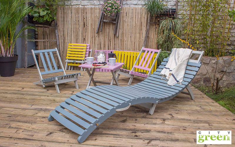 City Green Sun lounger Garden chaises longues Garden Furniture  |