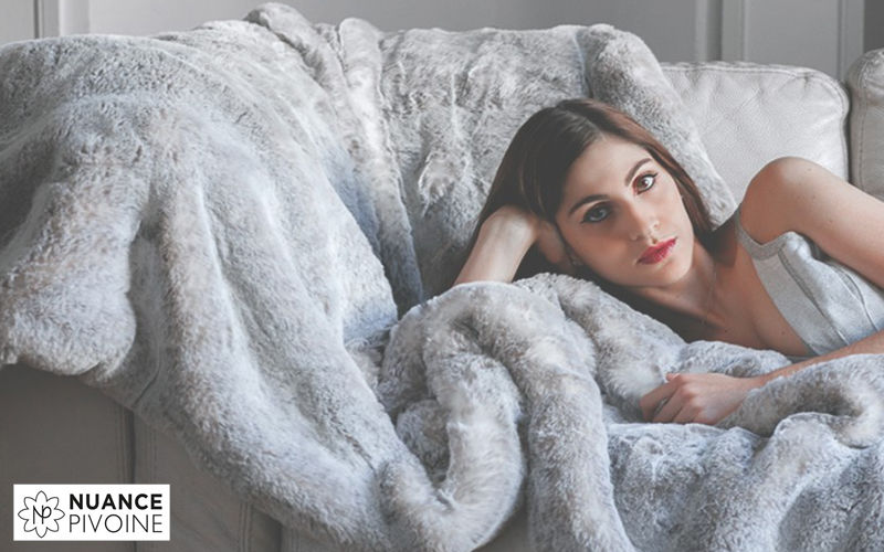 nuance pivoine Tartan rug Bedspreads and bed-blankets Household Linen   