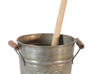 Antic Line Creations - récipient en zinc avec frottoir pour salle sanitai - Toilet Brush Holder