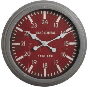 Aubry-Gaspard - horloge murale en métal et verre café central 58x9 - Wall Clock