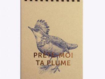 LES EDITIONS DU PAON - prête-moi ta plume lin - Notepad
