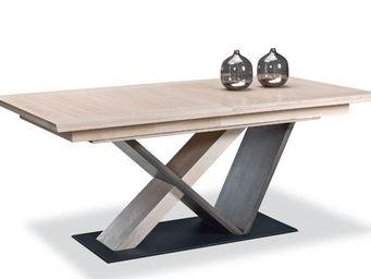 Ateliers De Langres -  pied central portland - Rectangular Dining Table
