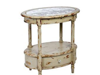 J-line - table d'appoint vintage paris - Pedestal Table