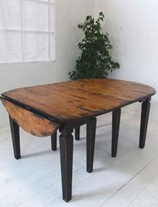 BLEU PROVENCE - vintage black - Extending Leaf Table