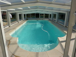 Abri-Integral - capitole bas - Sliding/telescopic Pool Enclosure