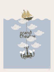 Dezzig - sérigraphie grand théâtre - Poster