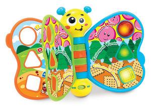 IMAGINE OUTLET - livre électronique papillon jaune français anglais - Early Years Toy