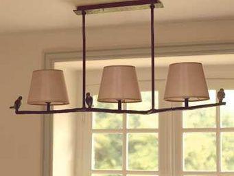 La maison de Brune - plume - Hanging Lamp