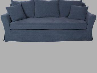 BLANC D'IVOIRE - balthus denim - 3 Seater Sofa