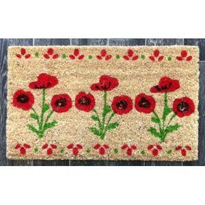 FAYE - paillasson bouquet coquelicot - Doormat