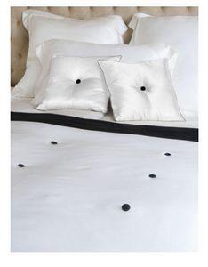 GINGERLILY - gatsby silk throw - black & ivory - Bedspread