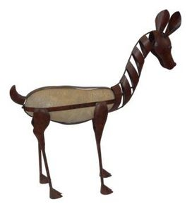 Demeure et Jardin - biche en fer forgé - Animal Sculpture