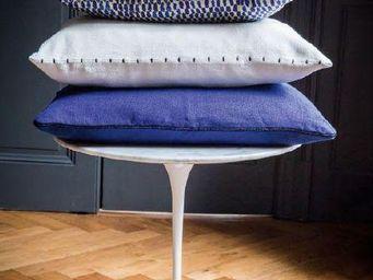 Elitis - bleu lapis - Square Cushion