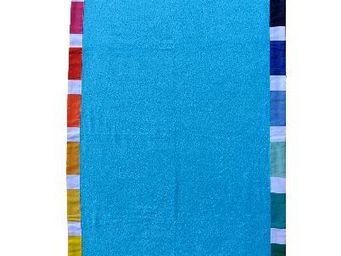 Les Toiles Du Soleil - turquoise / eau-feu - Bath Towel