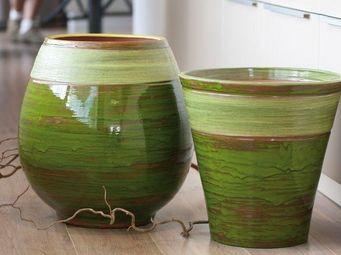 Les Poteries Clair de Terre - mousse citron- - Flower Container