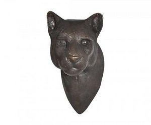 Demeure et Jardin - tete de puma - Animal Sculpture
