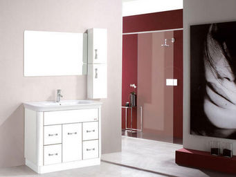 UsiRama.com - meuble salle de bain croustade blanc 1m - Bathroom Furniture