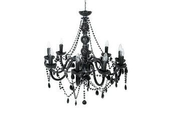 Kare Design - lustre gioiello cristal 9 noir - Chandelier