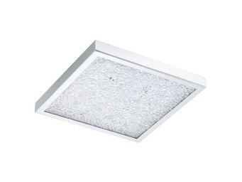 Eglo - plafonnier carré cardito led 36,5 cm chrome - Ceiling Lamp