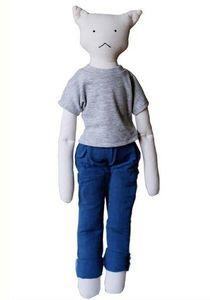 LES TOILES BLANCHES - igor, la poupée chat - Doll