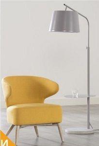 WHITE LABEL - fauteuil chanel design jaune avec piétement en chê - Armchair