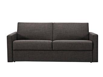 WHITE LABEL - canapé convertible 2 places coloris gris foncé - 2 Seater Sofa