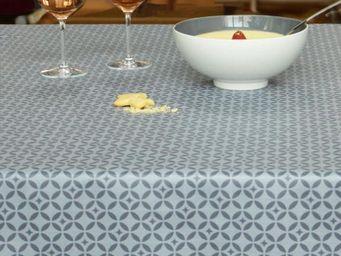 FLEUR DE SOLEIL - mosaïque grise - Coated Tablecloth