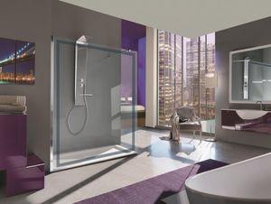 Samo - -open cornice - Shower Screen Panel
