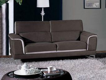 WHITE LABEL - canapé 3 places - michele - l 202 x l 105 x h 91 - - 2 Seater Sofa