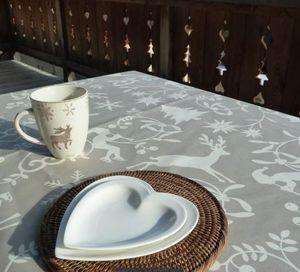FLEUR DE SOLEIL - enduite - Christmas Tablecloth